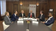 Hochkarätige Diskutanten: Markus Kuttner (CA Immo), Martin Müller (JPI), Ewald Stückler (t.o.c.), Gerhard Rodler, Hans-Peter Weiss (BIG), Peter Haupt (Hutchinson Drei Austria), v.l.n.r.