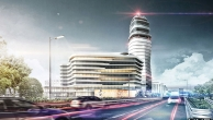 """Quasi """"in Ergänzung"""" zum Tower schafft der Office Park 4 an der Einfahrtstraße von Wien kommend am Flughafenareal eine ikonische Architektur."""