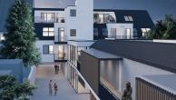 Die Architektur mit der niedrigen Bauhöhe passt zum Landschaftsbild der Umgebung. Das schmale Grundstück eignet sich zudem für kleine, zusammenlegbare Wohneinheiten.