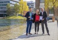 Sebastian Skala, Alina Zimmermann (HR) und Andreas Köttl