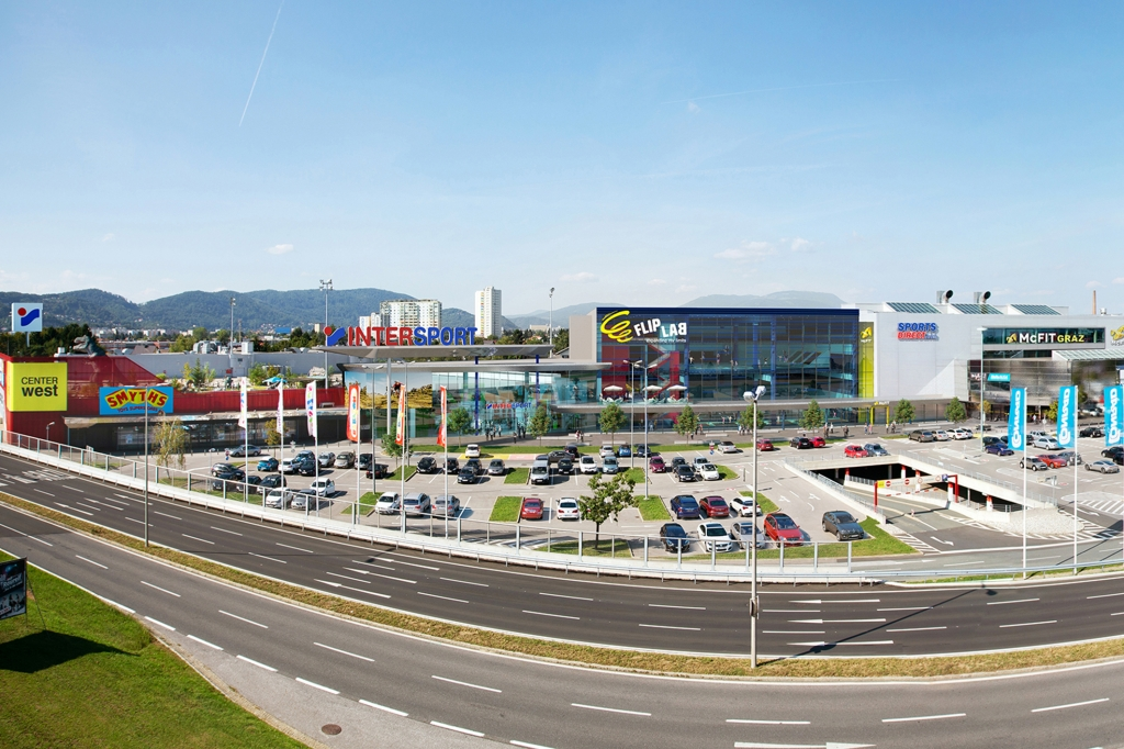 Das Center West in Graz