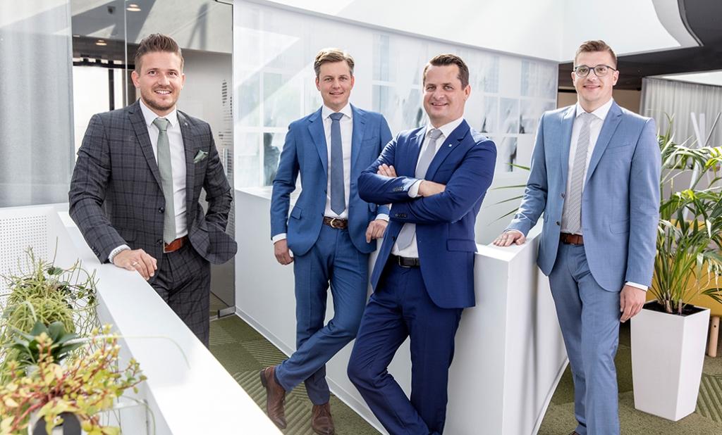 Erweiterter Vorstand bei C&P: Markus Ritter, Thomas Schober-Plankl, Andreas Grabner und Albert Sacher (v.l.n.r.)