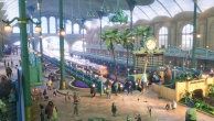 Der Bahnhof der Tiermetropole ist für alle Größen ausgestattet.