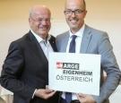 Bundesobmann Christian Struber (links) und Schriftführer Herwig Pernsteiner wurden in Funktionen bestätigt.