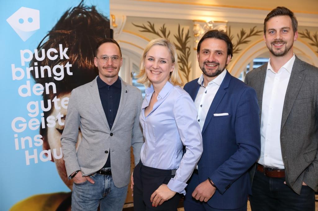Marcel Aberle, Julia Wawrik, Markus Woratschek und Peter Schindlmeier (v.l.n.r.)