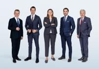 Lutz Aengevelt, Wulff Aengevelt, Chiara Aengevelt, Max Aengevelt und Mark Aengevelt (v.l.n.r.)
