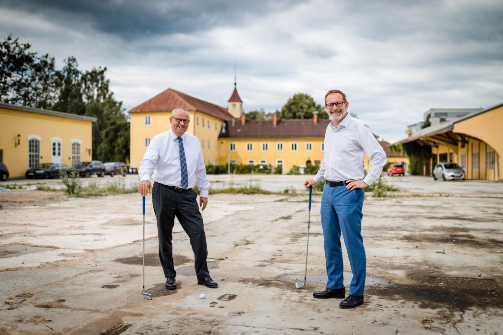Landtagspräsident Wolfgang Stanek und Hannes Horvath (v.l.n.r)