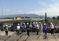 Spatenstich der Rheinbrücke