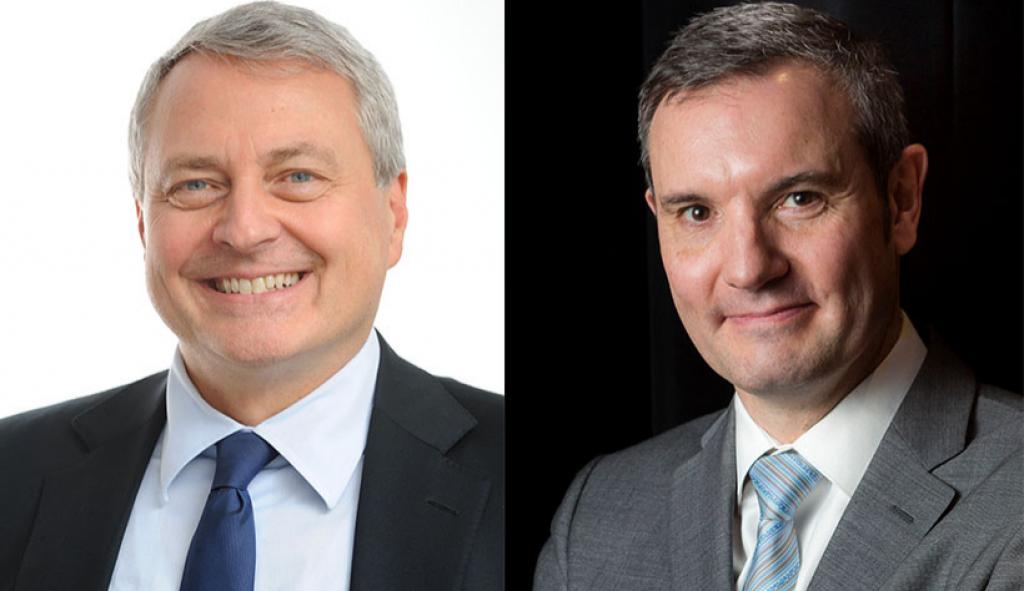 Paul Zilk tritt als Reed Midem-CEO zurück, Michel Filzi folgt ihm nach (v.l.n.r)