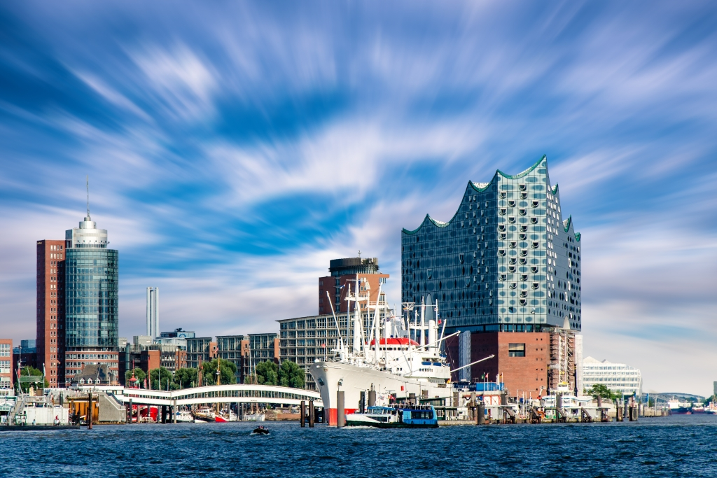 Die HafenCity in Hamburg