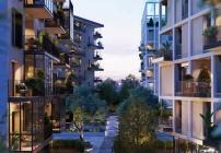 Der Wohnkomplex in Mailand