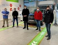 Die neue Drive-in-Teststraße in Klosterneuburg