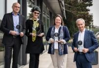 Heuer ist wieder das findmyhome.at-Qualitätsmaklersiegel verliehen worden. V.l.n.r.: Stefan Messar (Glorit), Anna Steurer (Realtreuhand Wien), Helga Brun (Krefina Immobilien) und Michael Pech (ÖSW)