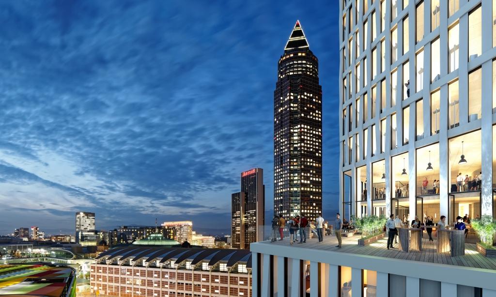 Der Tower One in Frankfurt