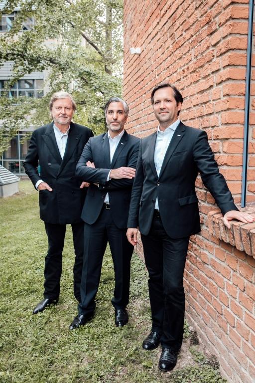 Heinz Neumann, Oliver Oszwald und Florian Rode von HNP architects (v.l.n.r.)